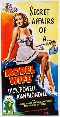 Joan Bennett Photograph - Model Wife, Joan Bennett On Poster Art by Everett
