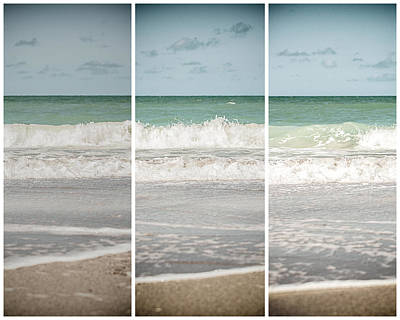 Tryptych Photograph - Modern Beach Tryptych by Lisa Russo