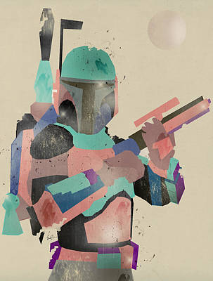 Colourfull Painting - Modern Boba Fett by Bri B