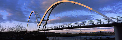 Stockton Photograph - Modern Bridge Over A River, Infinity by Panoramic Images