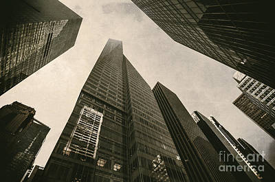Nyc Digital Art - Modern Buildings by Svetlana Sewell