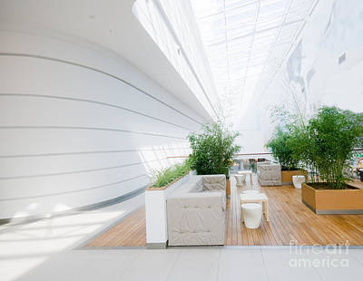 Room Photograph - Modern Business Interior by Michal Bednarek