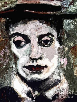 Modern Buster Keaton The Great Stone Face Print by Ginette Callaway
