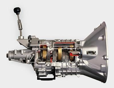 Modern Car 5-speed Manual Gearbox Print by Dorling Kindersley/uig