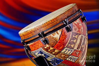 Congas Photograph - Modern Djembe African Drum Photograph In Color 3336.02 by M K  Miller