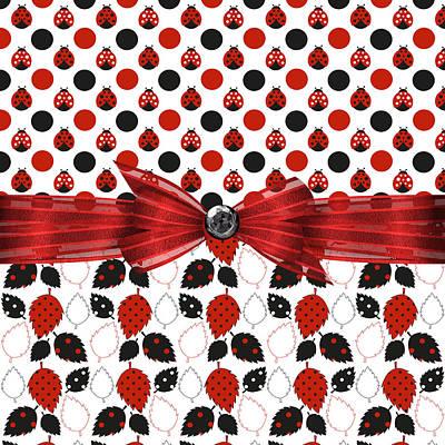 Ladybug Digital Art - Modern Ladybugs  by Debra  Miller