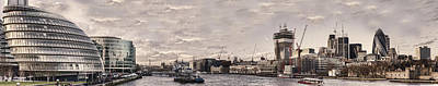 Panoramic Photograph - Modern London by Heather Applegate