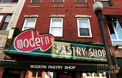 Of Artist Photograph - Modern Pastry Shop by John Rizzuto