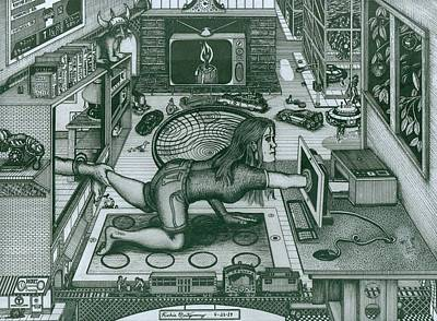 Drawing - Modern Technology by Richie Montgomery