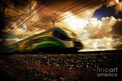Wagon Photograph - Modern Train Transportation by Michal Bednarek