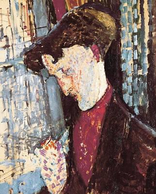 Oil Portrait Photograph - Modiglianiamedeo 1884-1920. Portrait by Everett