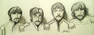 Ringo Starr Drawing - Moe's Favorite by Michele Moore