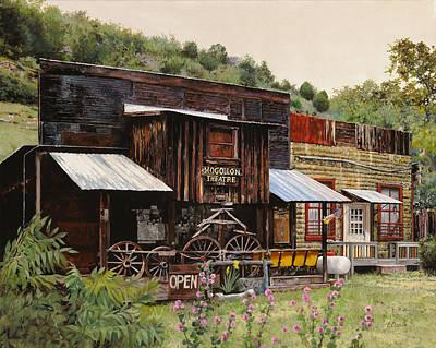 Mine Painting - Mogollon-theatre-new Mexico  by Guido Borelli