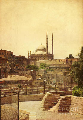 Cairo Mixed Media - Mohamed Ali Mosque In Cairo by Mohamed Elkhamisy