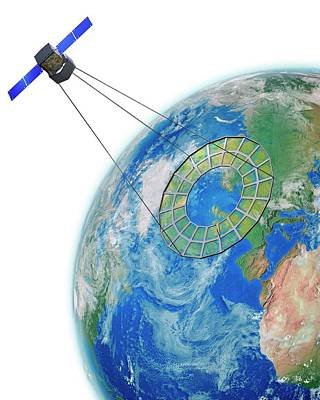 Military Artwork Photograph - Moire Spy Satellite by Claus Lunau