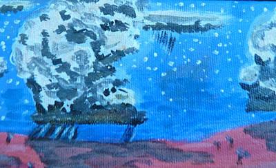 Summer Thunderstorm Painting - Mojave August Rainfall I by Carolina Liechtenstein