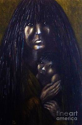 First Tribes Painting - Mojave Mother And Child by Tom Norton