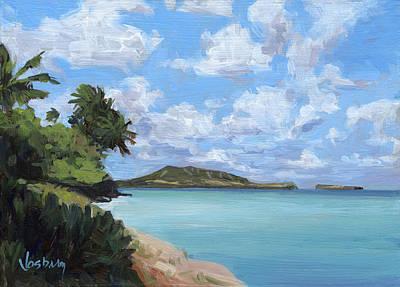 Haleiwa Painting - Mokapu Peninsula Oahu by Stacy Vosberg