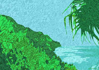 Hawaii Mixed Media - Moku Kapa 5 by Kenneth Grzesik