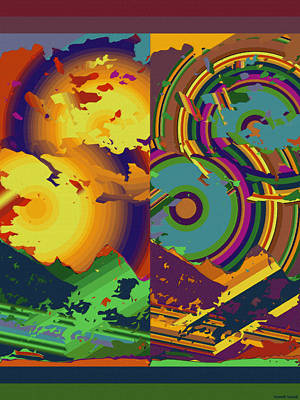 Contemporary Digital Art - Moku Moku 8 by Kenneth Grzesik