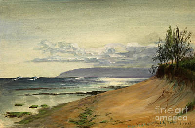 Collectible Painting - Mokuliea Beach - Oahu Hawaii  1967 by Art By Tolpo Collection