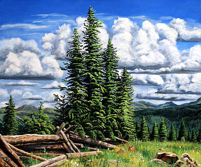 Spruce Painting - Molas Pass Area by Timithy L Gordon