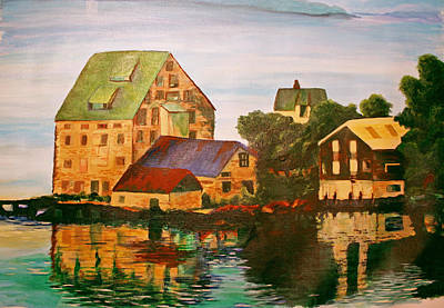 Norwegian Fishing Village Painting - Rustic Molde by Barbara Ebeling