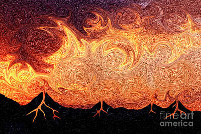 Molten Lava From The Sky Print by Beverly Claire Kaiya
