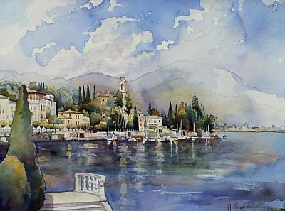 Lake Como Painting - Moltrasio Lake Como Italy  by Jim Smither