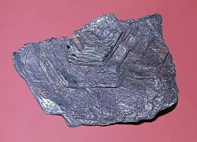 Crystalline Photograph - Molybdenite by Dirk Wiersma