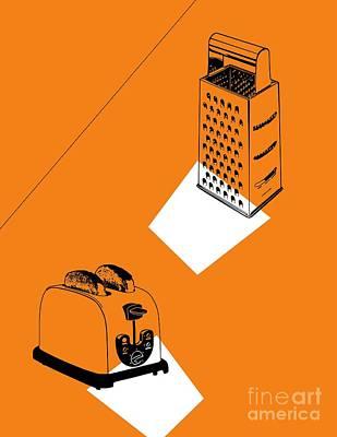 Toaster Digital Art - Mom by Lorenzo Agnes