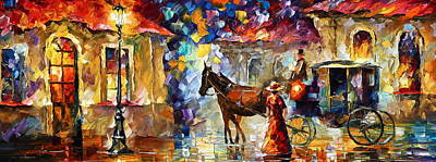 Momentary Stop Print by Leonid Afremov