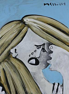 Crying Painting - Momentis  The Crying Sister by Mark M  Mellon