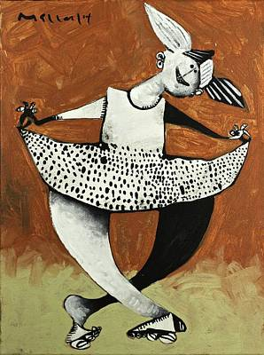 Momentis The Polka Dotted Dancer  Print by Mark M  Mellon