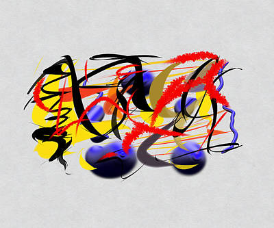 Abstract Digital Drawing - Moment Captured In Time by Paulo Guimaraes