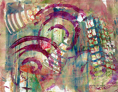 Earthtones Painting - Moments by Moon Stumpp