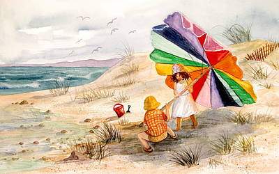 Sand Dunes Painting - Moments To Remember by Marilyn Smith