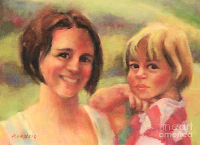 Mother And Child Painting - Mommy And Me by Marilyn Weisberg