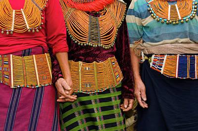 Necklace Photograph - Mon Village Nagaland, Northeast India by Ellen Clark