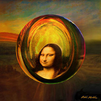 Parody Painting - Mona Lisa Circondata by Robin Moline