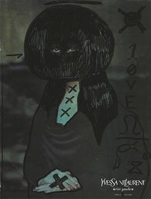 Banksy Drawing - Mona Lisa Pop Graffiti by Edward X