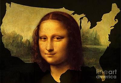Painter Digital Art - Mona Lisa United States by John Clark