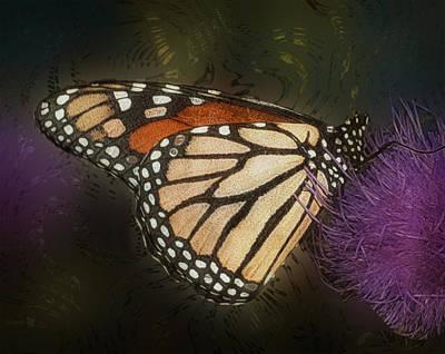 Merging Digital Art - Monarch Butterfly by Jack Zulli