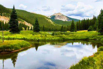 Digital Photograph - Monarch Pass Beaver Ponds by J Michael Nettik