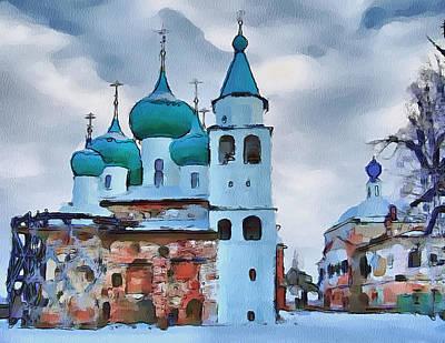 Moscow Digital Art - Monastery Construction by Yury Malkov