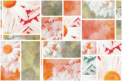 Mondrianity - Daisies 02 Print by Variance Collections