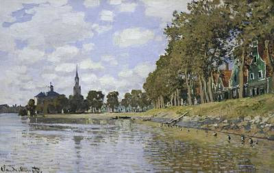 Monet, Claude 1840-1926. Zaandam. 1871 Print by Everett