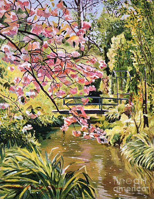 Pink Painting - Monet Spring by David Lloyd Glover