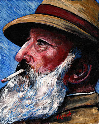 Self Portrait Painting - Monet by Tom Roderick