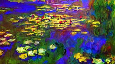 Lilly Pond Mixed Media - Monet Would Be Horrified by Georgiana Romanovna